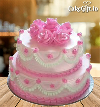 2 Tier Strawberry Cake
