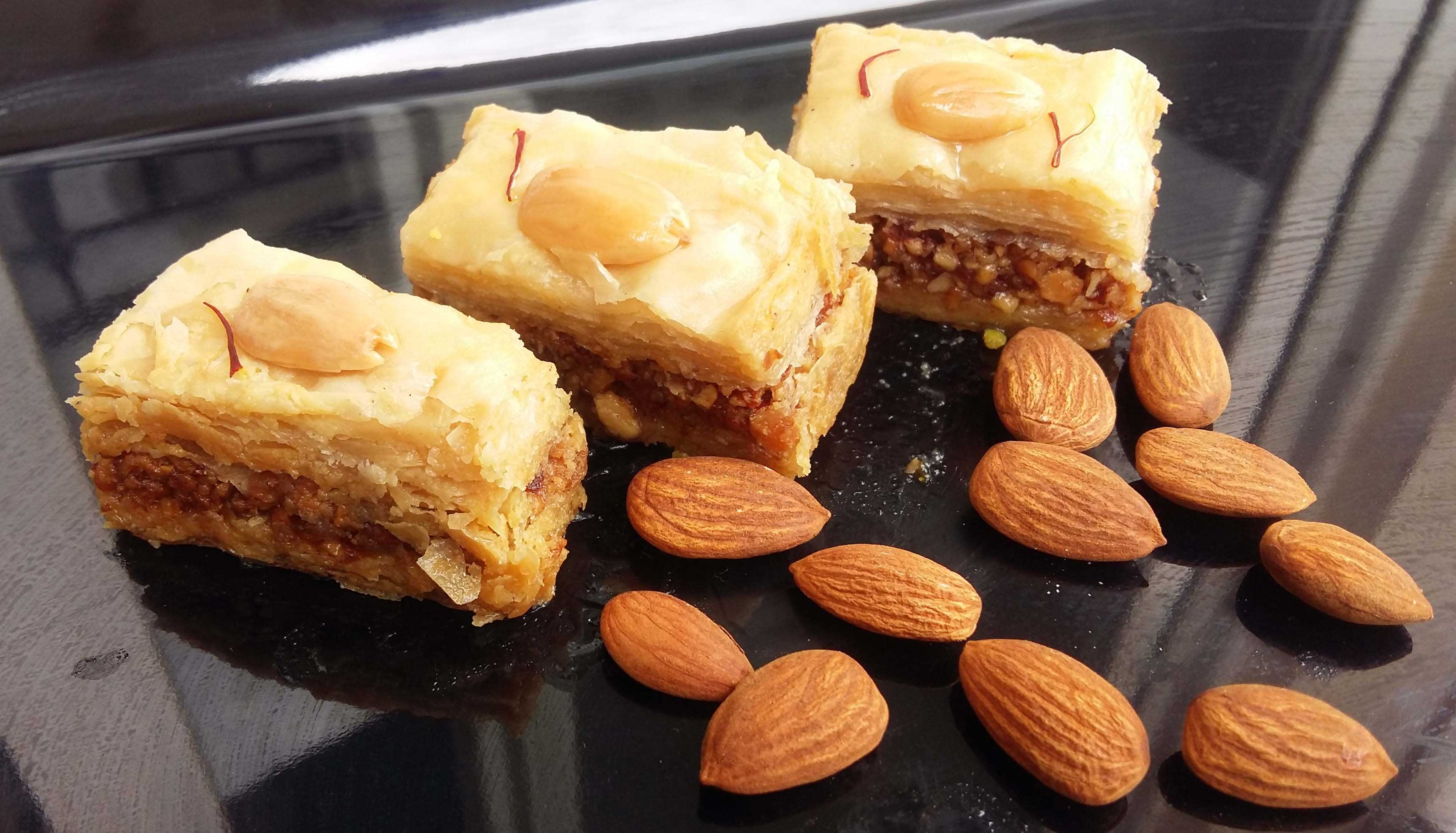Baklava Sweets Filled with Almond