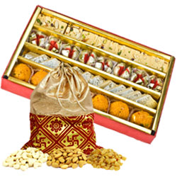 Assorted Sweets And Dry Fruits