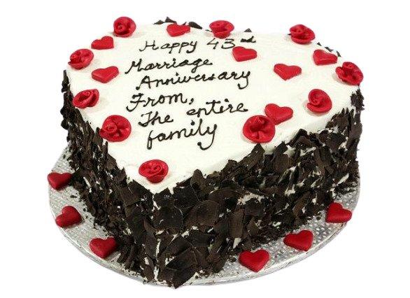 Black Forest Anniversary Cake