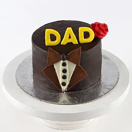 Bow Tie Truffle Cake for Dad