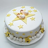 Baby Shower Boy and Girl Cake