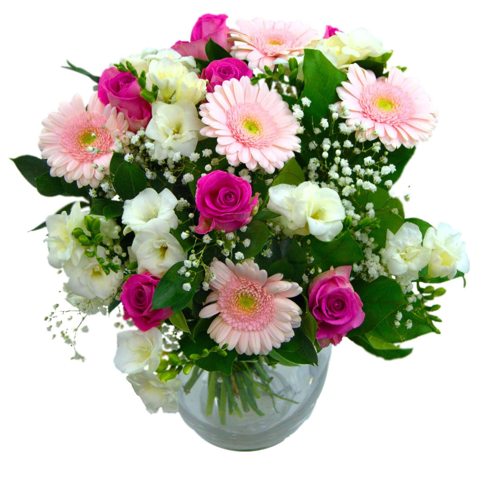 Carnation-Mix-bunch-Roses