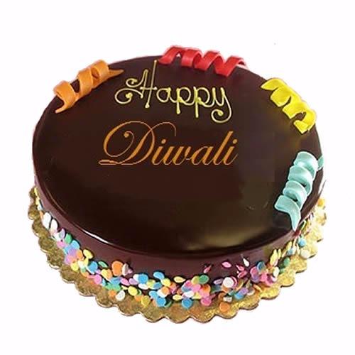 Chocolate Diwali Cake
