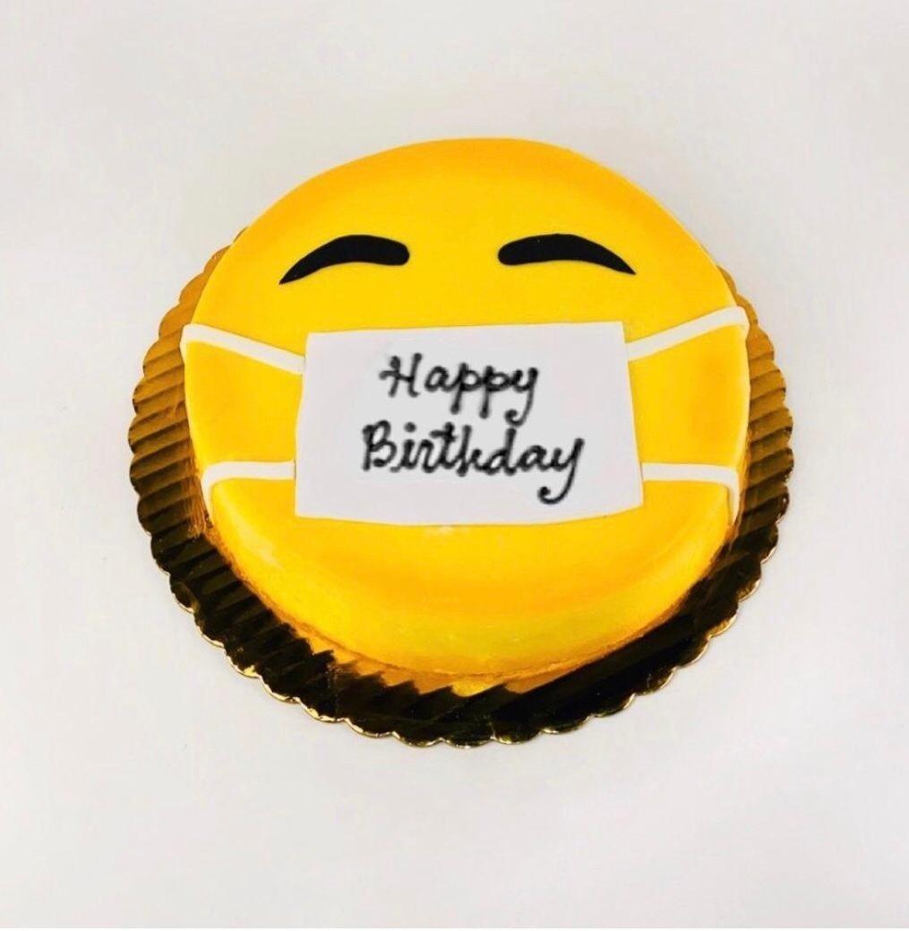 Emoji Mask Cake