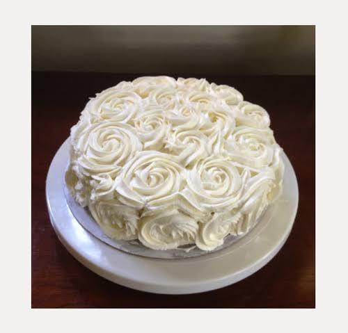 Flowery designer cake