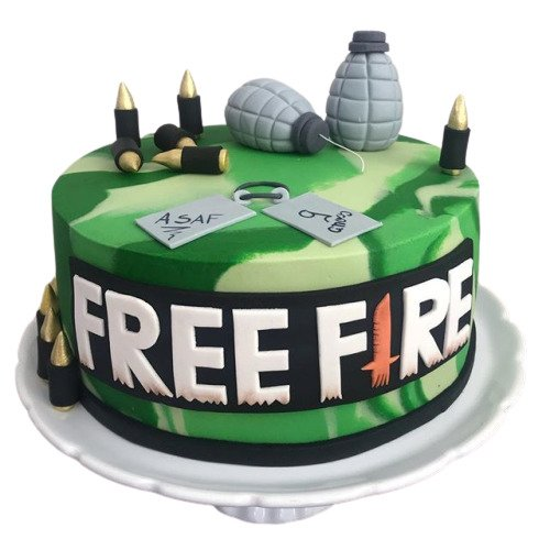 Free Fire Games Cake