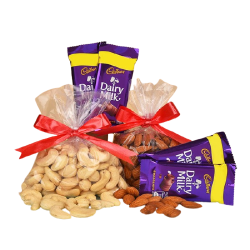 Healthy Diwali Gift Combo ( chocolates & dryfruit)