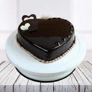 Heart Shape Chocolate Truffle Cake
