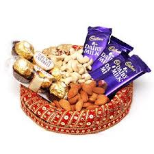 Dry fruit and chocolate gift hamper