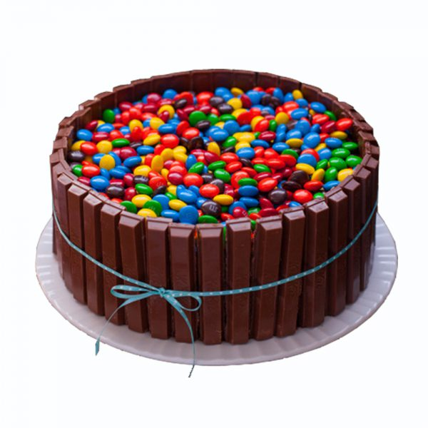 kit kat Cake with Gems Touch