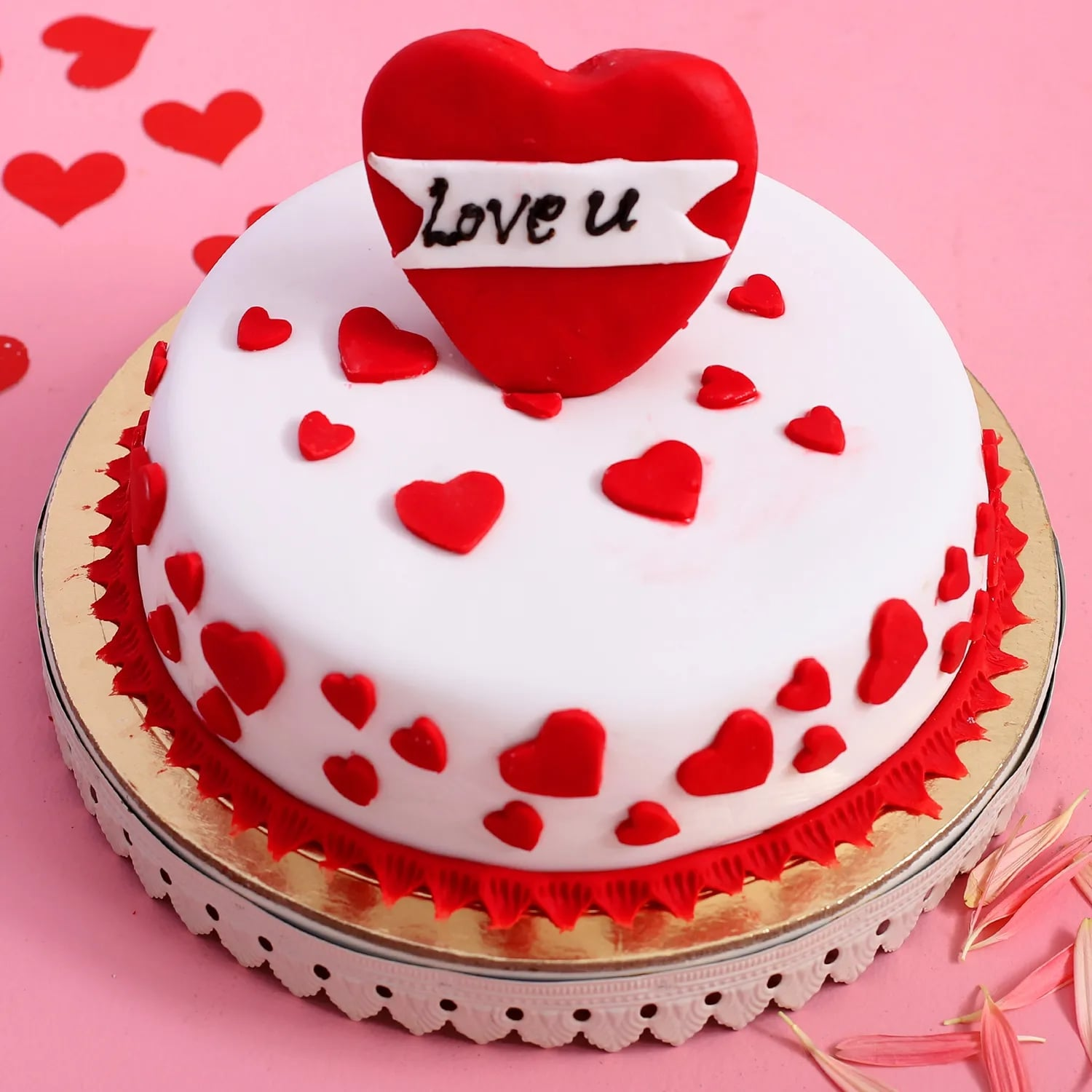 Love Hearts Designer Cake