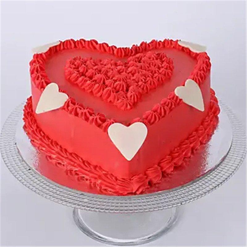 Pineapple Valentine's Heart Shape Cake