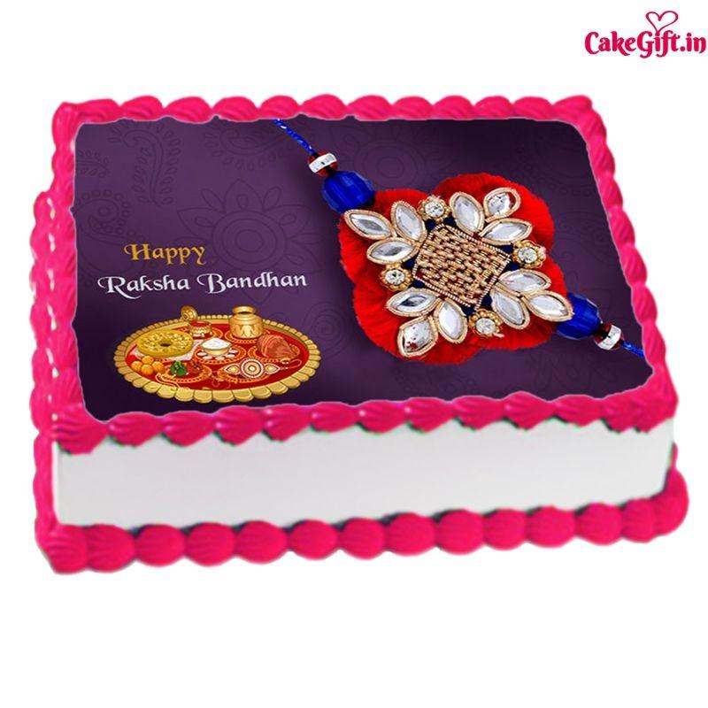 Rakhi Print Cake