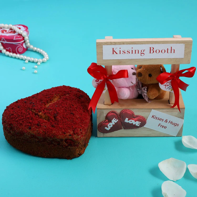Red Velvet Dry Cake And Cute Kissing Both