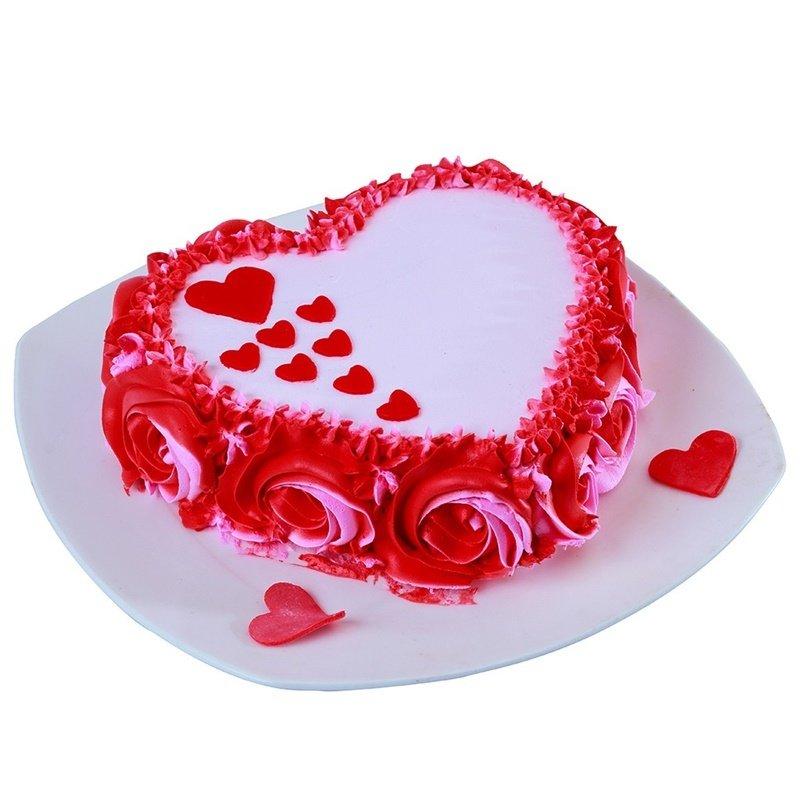 RoseyRed Velvet Heart Shape Cake