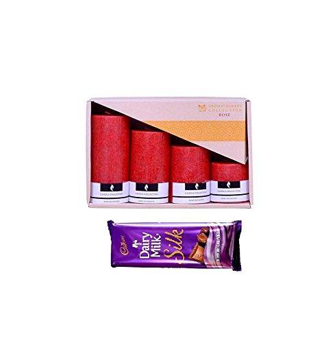 Set of cadbury chocolates with Candles