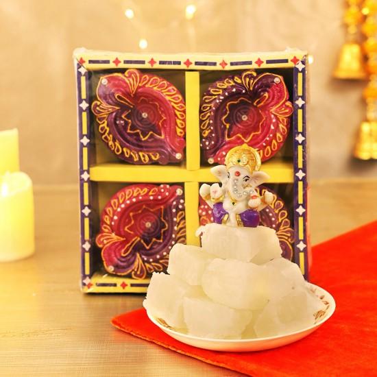 Sweet Hamper With Ganesh Idol