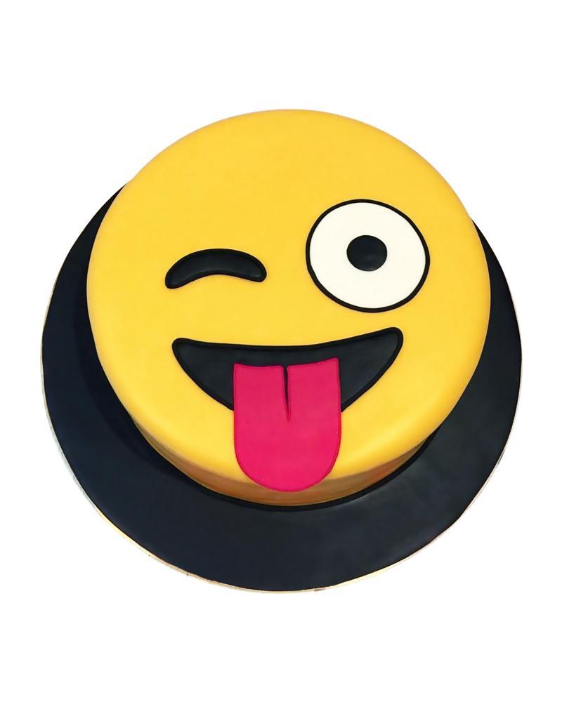 Wink Emoji Cake