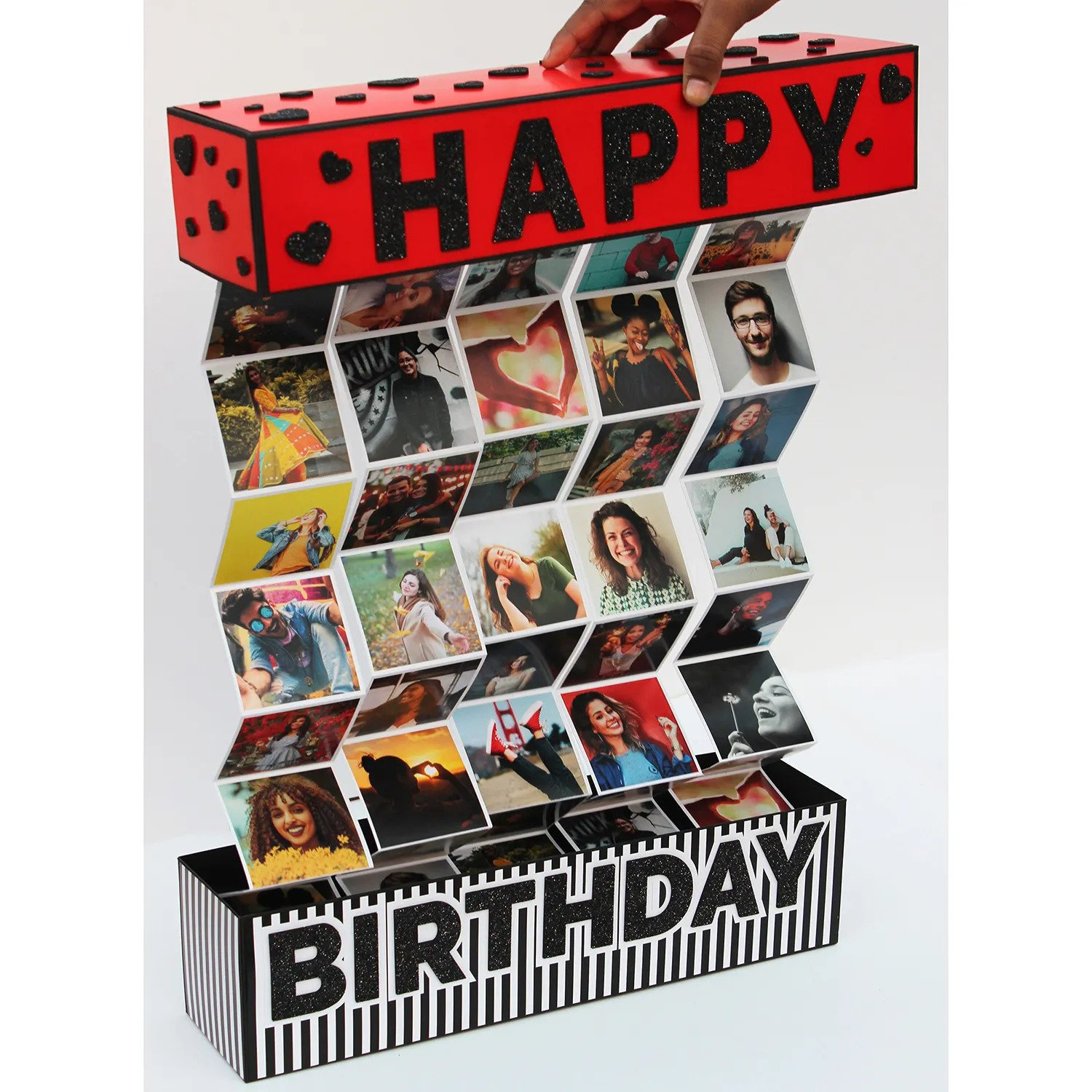 Zig Zag Pull Out Birthday Red Box