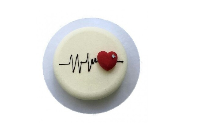 Heartbeat Theme cake