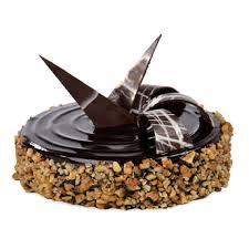 Chocolate Walnut Truffle Cake
