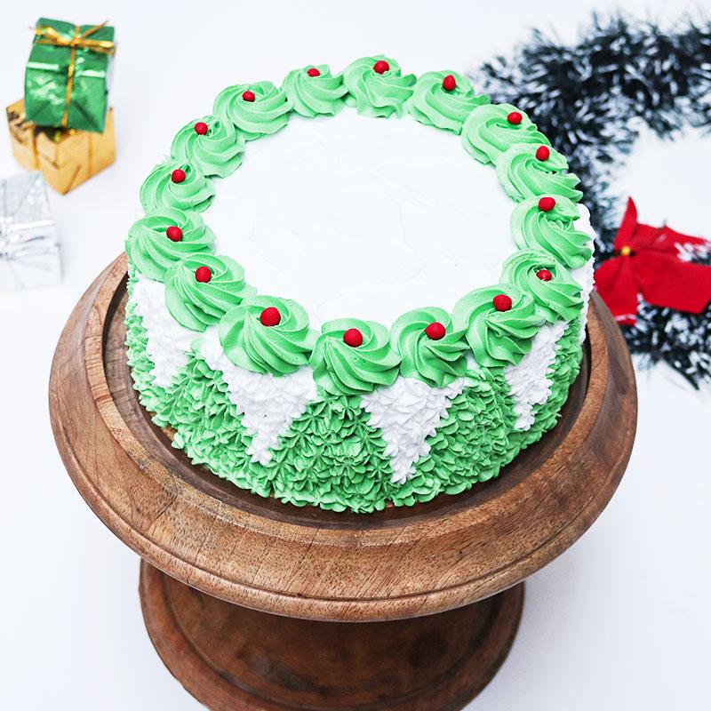 Cream Christmas tree Cake