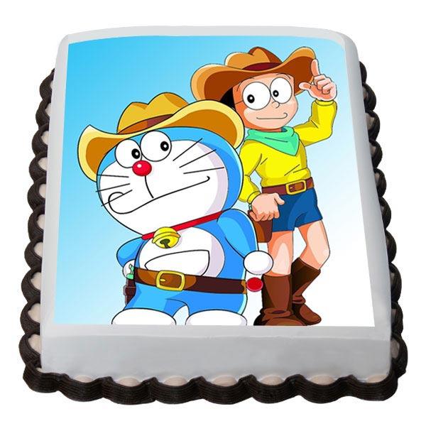 doraemon and nobita cake