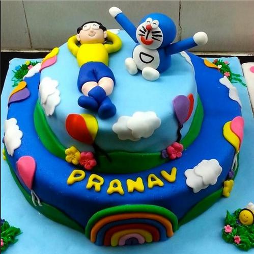 Doraemon Nobita Cake Fondant