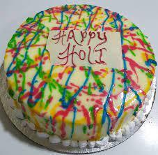 Happy Holi Chocolate Cake