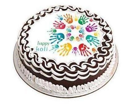 chocolate Holi cake