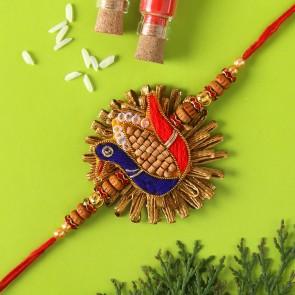 Peacock Zardosi Rakhi
