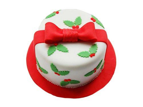 Christmas Gift Chocolate Cake