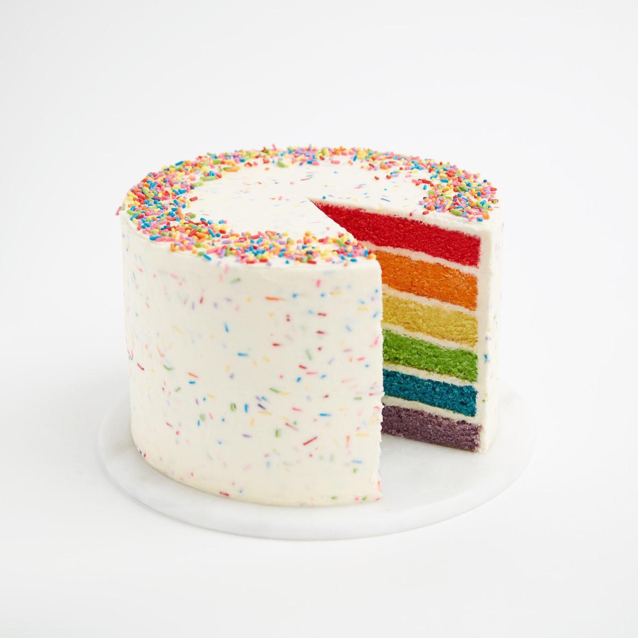 Astonishing Buy Rainbow Cake Online Best Rainbow Cake Online Delivery Funny Birthday Cards Online Alyptdamsfinfo
