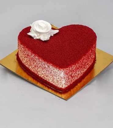 Heart Shape Anniversary Red Velvet Cake
