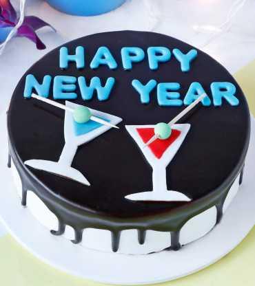 New Year Chocolate Cake (Half kg)