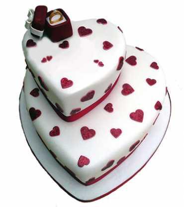Royal Engagement- 2 Tier Vanilla Cake