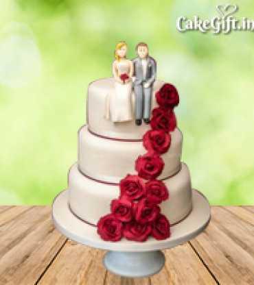 3 Tier Anniversary Cake 5 kg