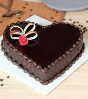 Beautiful Heart Shape Chocolate Cake