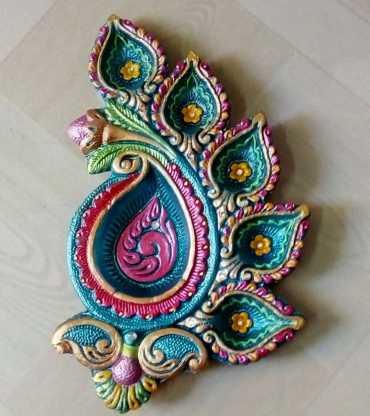 Designer Handprinted Diya