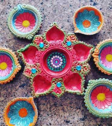 7 Designer Handmade Diya
