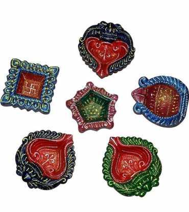 Colorful Decorative Diya Set