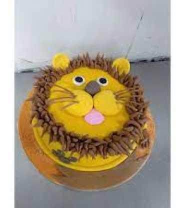 Animal Theme Fondant Cake