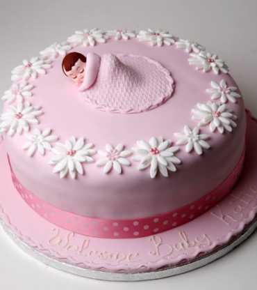 Baby In Blanket Cake