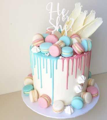 Baby Shower Cake Drip Cake