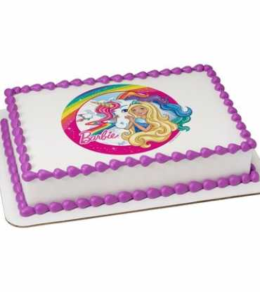 Barbie Edible Icing Image Cake