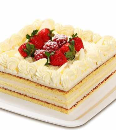 Butterscotch Strawberry Cake
