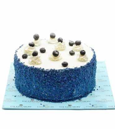 Birthday special blue velvet cake