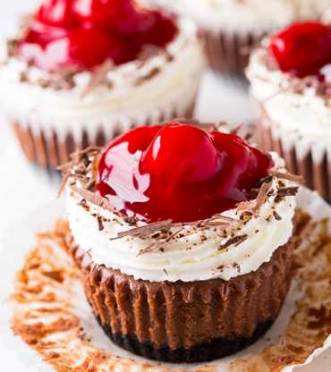 Black Forest Cheese Cup Cake