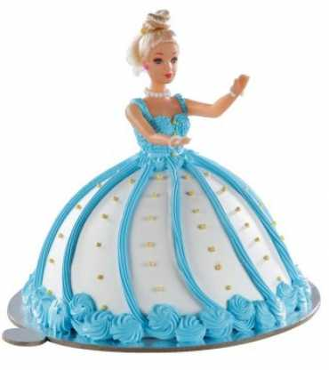 Blue Barbie Doll Cake
